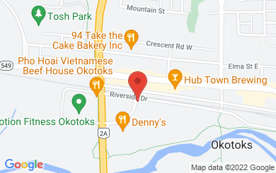Map to Okotoks United Church in Okotoks, AB